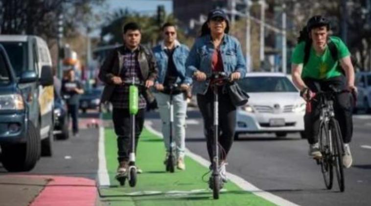 租赁单车和滑板车在圣地亚哥持续增长