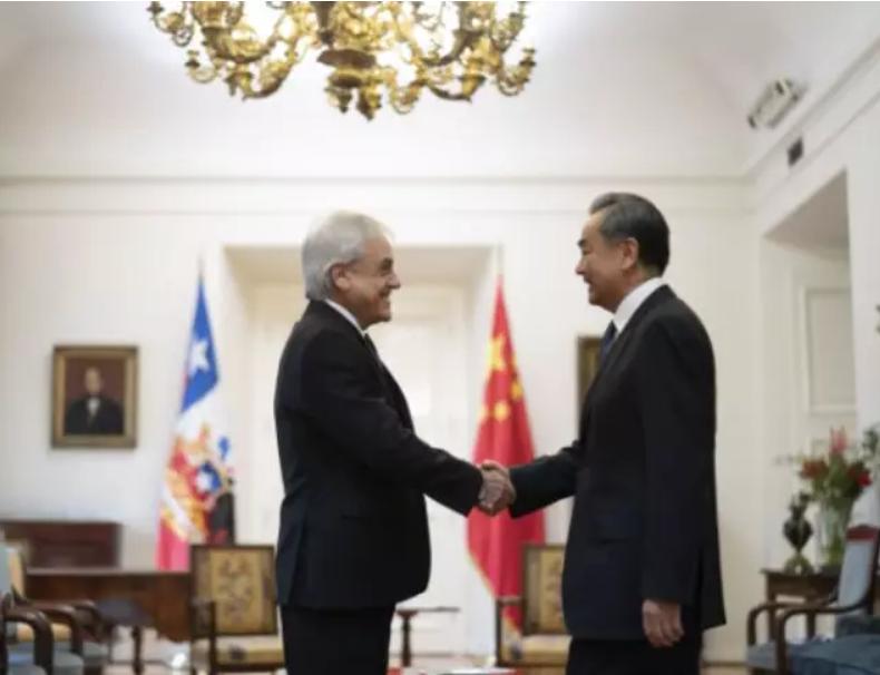 智利总统皮涅拉同中国外交部长王毅会面,谈及贸易,投资及委内瑞拉局势问题