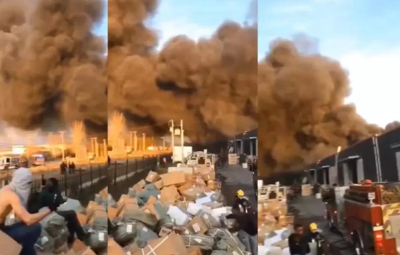 首都华商最大仓库区发生特大火灾 损失极为惨重