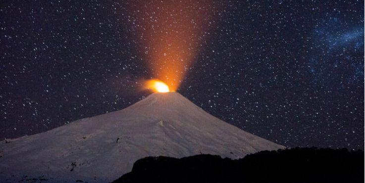 国家地理与矿产服务部门公布智利最危险的火山