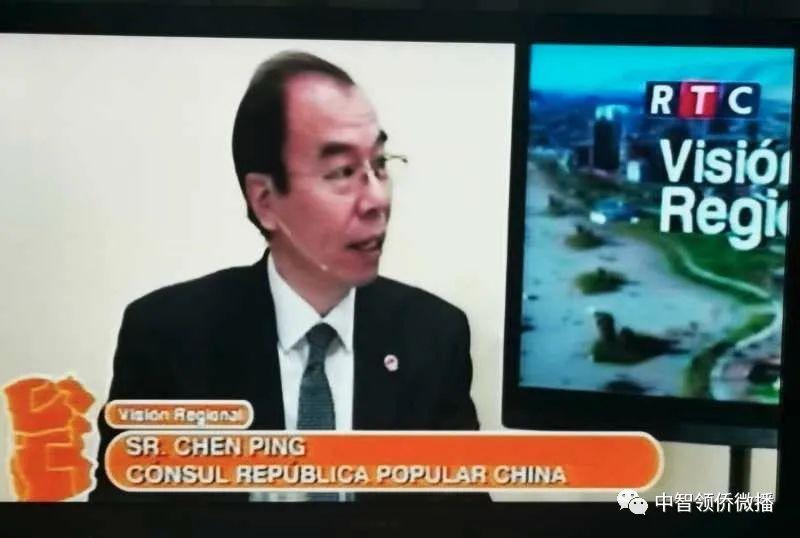 陈平总领事参加电视访谈介绍中国抗击新冠病毒情况