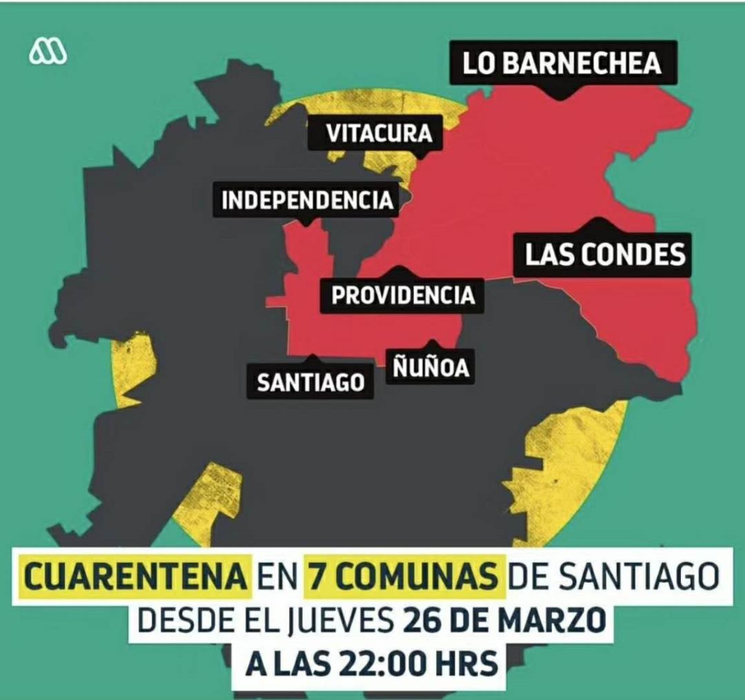 """智利确诊感染病例累计1306例 死亡4例 首都圣地亚哥七个区""""封城"""""""