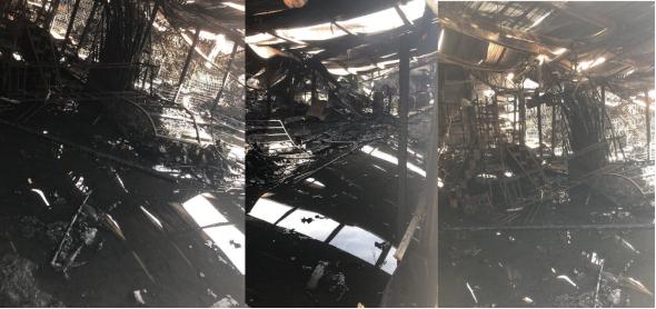 智利严峻疫情形势下 一浙江青田籍侨胞的百货商店遭人纵火,烧得干干净净