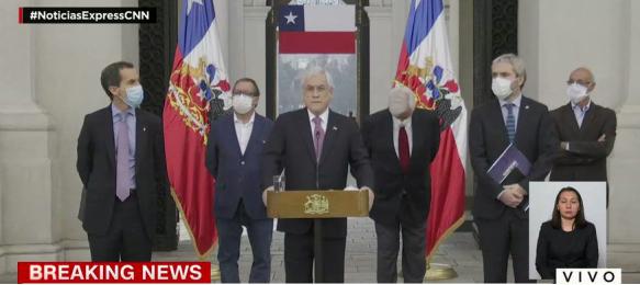 特朗普跟皮涅拉说 优先给智利提供疫苗 智利确诊25972例!