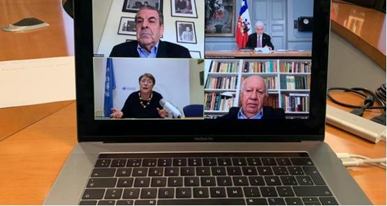 """总统皮涅拉与多位前总统进行视频会议 商讨新的""""社会协议"""""""